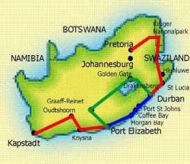 Touraco Travel Services - Grosse Südafrika Reise